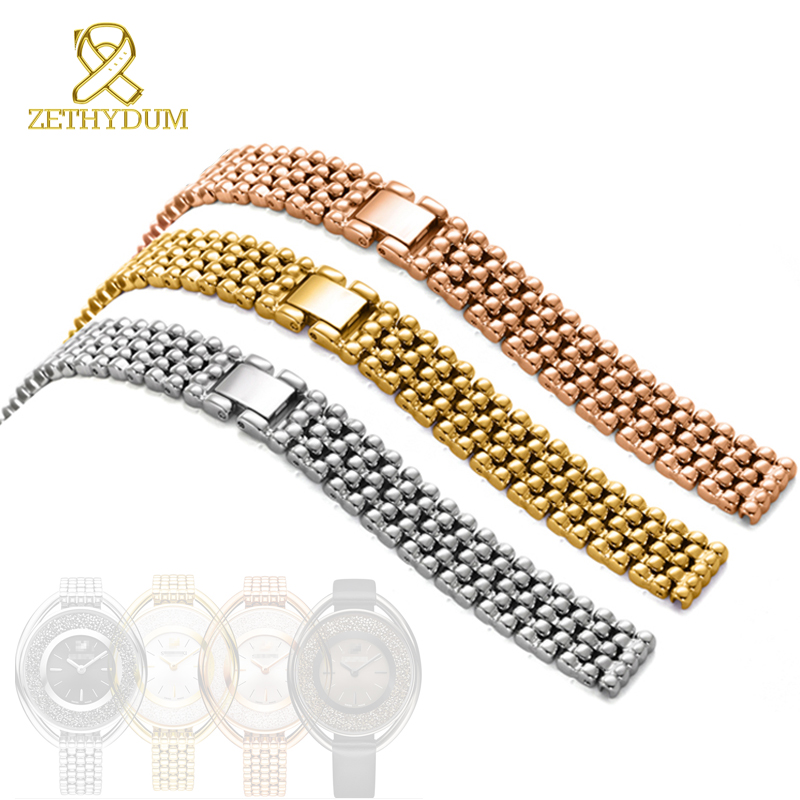 Stainless steel watchband solid metal bracelet 12mm woman Watch strap High quality 5200341 womens watch band Jewelry clasp new high quality stainless steel watchband men and women metal watch bracelets watch bracelet for constellation watch strap