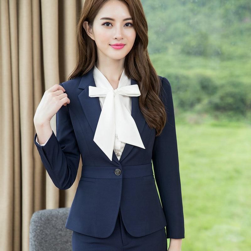Autumn Women Office Slim Blazer Long Sleeve Single Button Womens Jacket Office Ol High-grade Fashion Slim Short Womens Suits