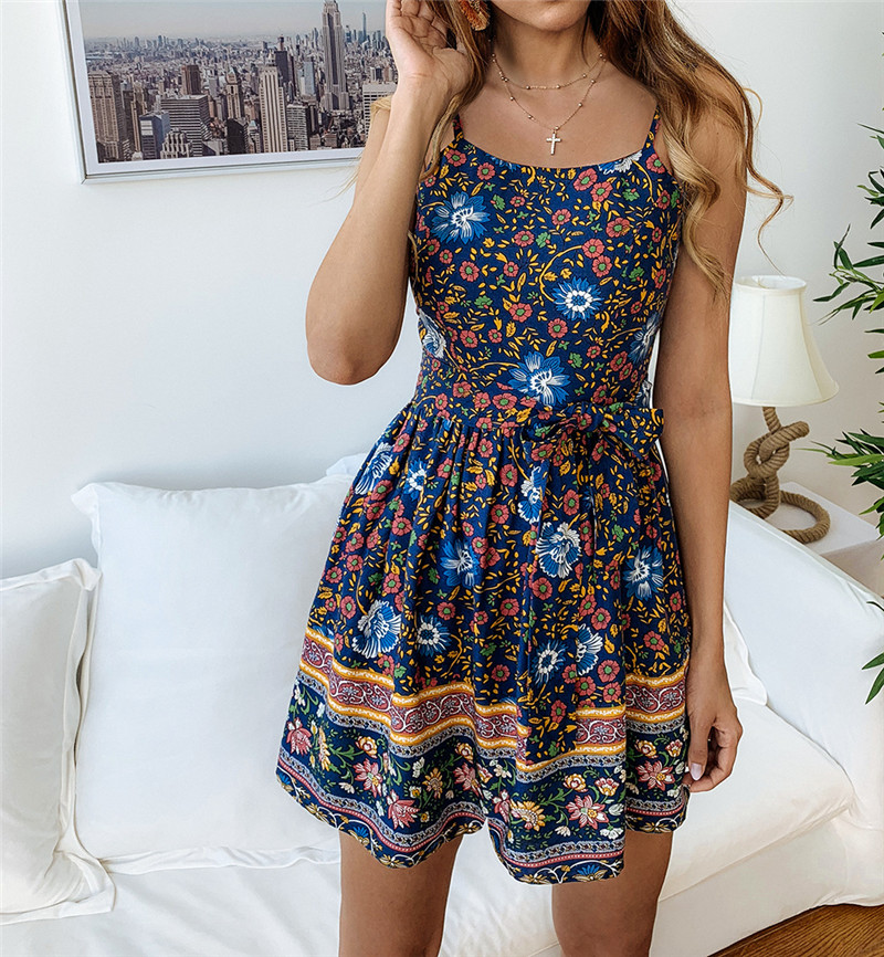 Leviortin Designer Jumpsuit High Quality Women Floral Romper With Belt Bohemian Strapless Boho Flower Print Beach Playsuit  (10)
