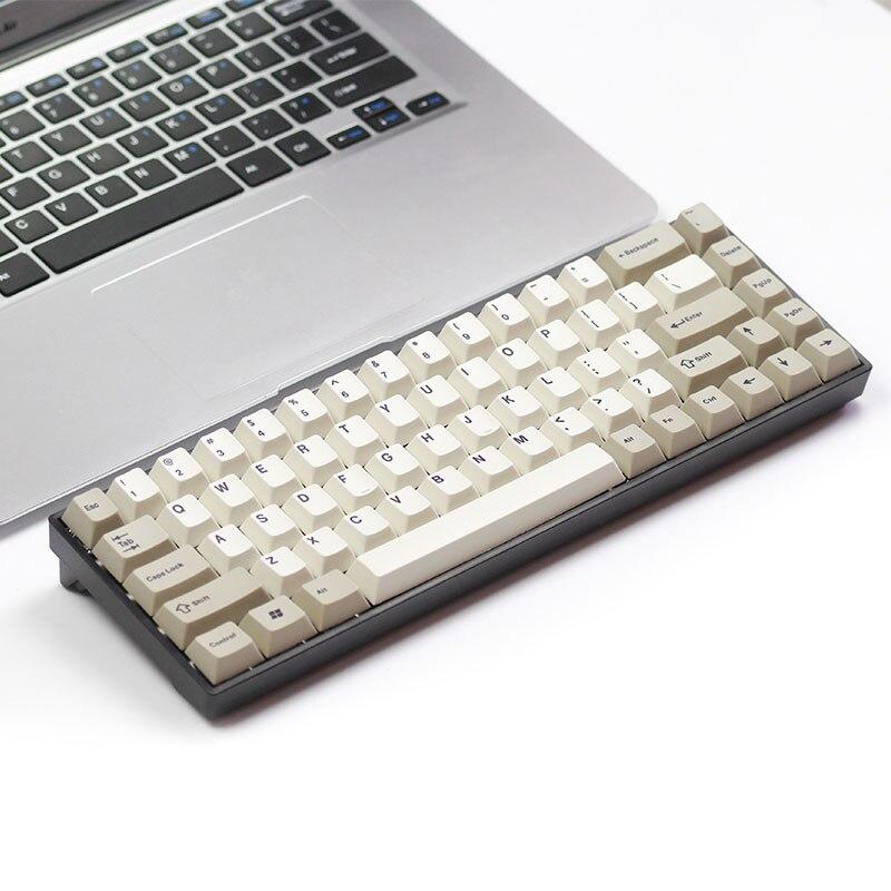 Tada68 clavier mécanique gateron swtich 65% disposition colorant-sub keycaps profils cerise enjoypbt keycap cherry profil zealio commutateur