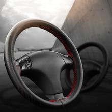 عجلة توجيه سيارة يغطي يناسب القطر الخارجي من 37 38 سنتيمتر DIY بها بنفسك جديلة جلد طبيعي على عجلة القيادة من السيارة