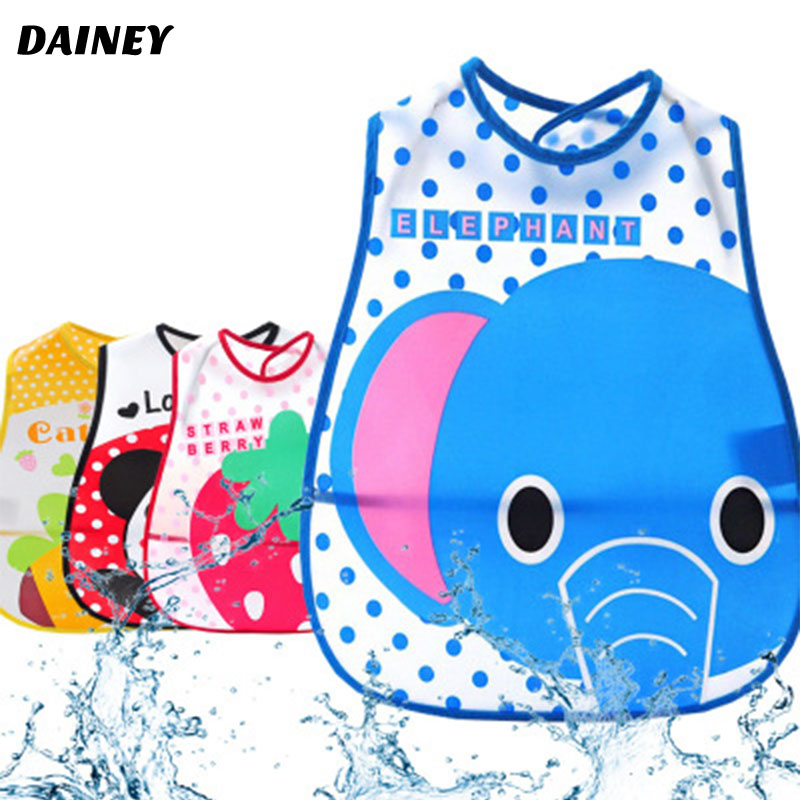 Cute Cartoon Animals Bids Waterproof Infant Newborn Baby Apron Bibs For Kids Girls Boys Bib Baby Clothing Feeding Care BWD03