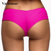 S - XL V shape sexy female swimwear women Bather swim brief brazilian bikini bottom scrunch butt tanga panties underwear V130