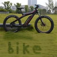 26 дюймов углеродное волокно Электрический велосипед дисковый тормоз электрический велосипед 26*4,0 шины 8 скоростей комплект для велосипеда ...