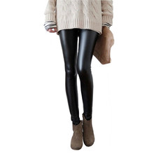 Thicken Spring Autumn Winter PU Leather Women Pants High Waist Elastic Fleece Stretch Slim Woman Pencil Pants Skinny Trousers