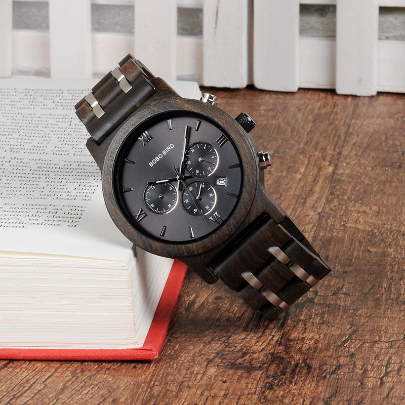 Relojes de Madera con Banda Metálica 8