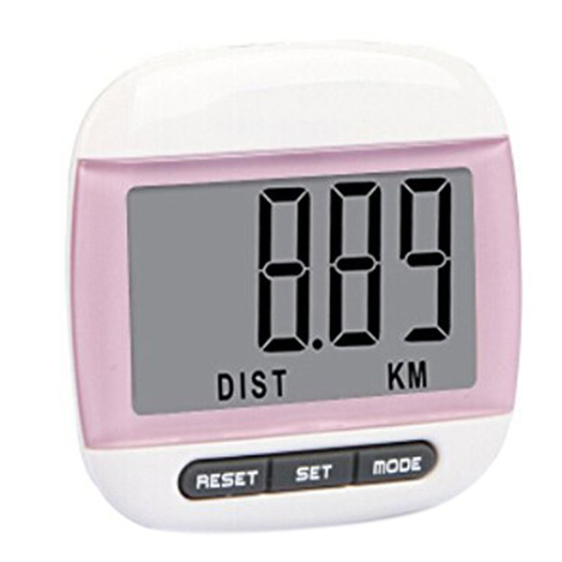 SZ-LGFM-Multifunction LCD Pedometer Walking, Step, Distance, Calorie Calculation Counter -Pink