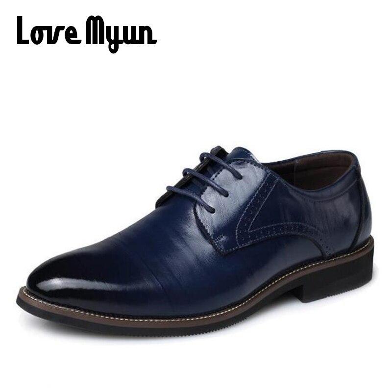 c081ab0d1 Купить Для мужчин s обувь из натуральной кожи Для мужчин мужские туфли  свадебные туфли в деловом стиле оксфорды на шнуровке с острым носком на  плос.