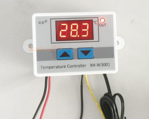 220V Digital LED Temperature Controller 10A Thermostat Control Switch Probe W3001