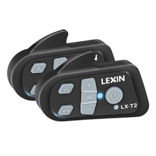 Original 2PCS Lexin T2 Motorcycle Bluetooth Helmet Intercom with noise cancellation BT intercomunicador Interphone Headsets MP3