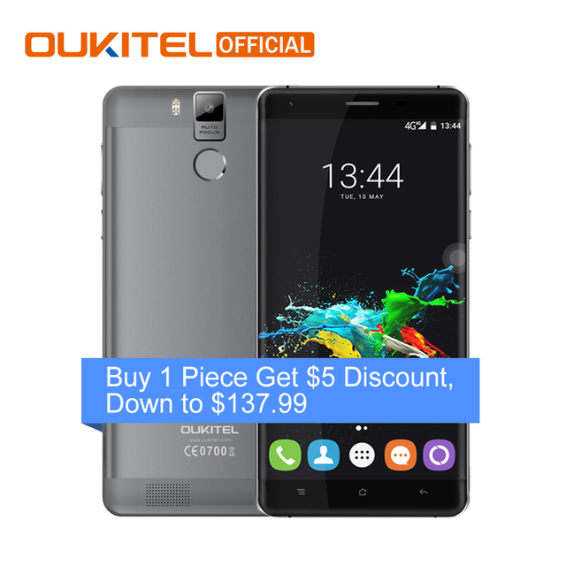 Oukitel K6000 Pro 5.5 Inch 6000mAh Octa Core Cellphone Android 6.0 MTK6753 Smartphone 3G RAM 32G ROM Dual SIM 4G Mobile Phone