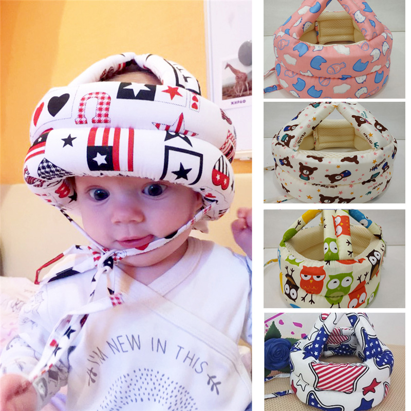 Baby Hats Safety Learn to Walk Caps Infant Protective Hat Helmet For Babies Cotton Toddler Anti-collision Cap Newborn Adjustable защитный детский шлем