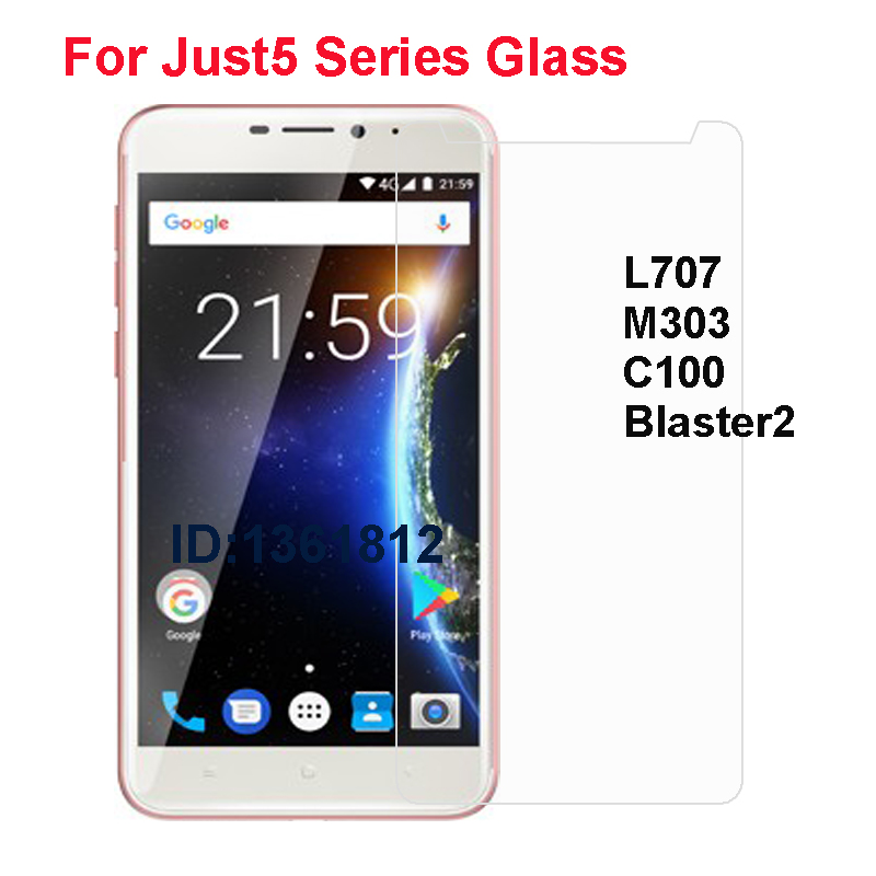 Just5 Freedom C100 M303 Tempered Glass Protective Film For Just5 L707 Blaster2 Glass Screen Protector Mobile Phone Film(China)