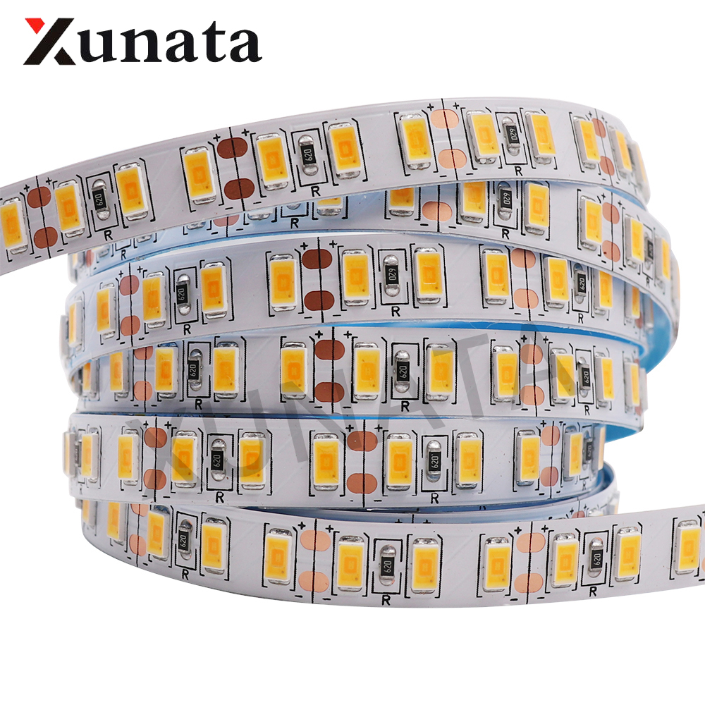DC12V 1M 2M 5M SMD 5630 Epistar Chip Cold White /Warm White Super bright led strip SMD 5730 120leds/m Flexible Led Tape Light цена
