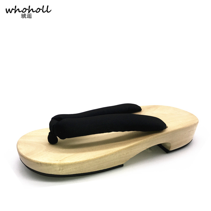 WHOHOLL Japanese geta summer sandals woman clogs wooden shoes flip-flops for women flat sandals cos shoes floral rope female цены
