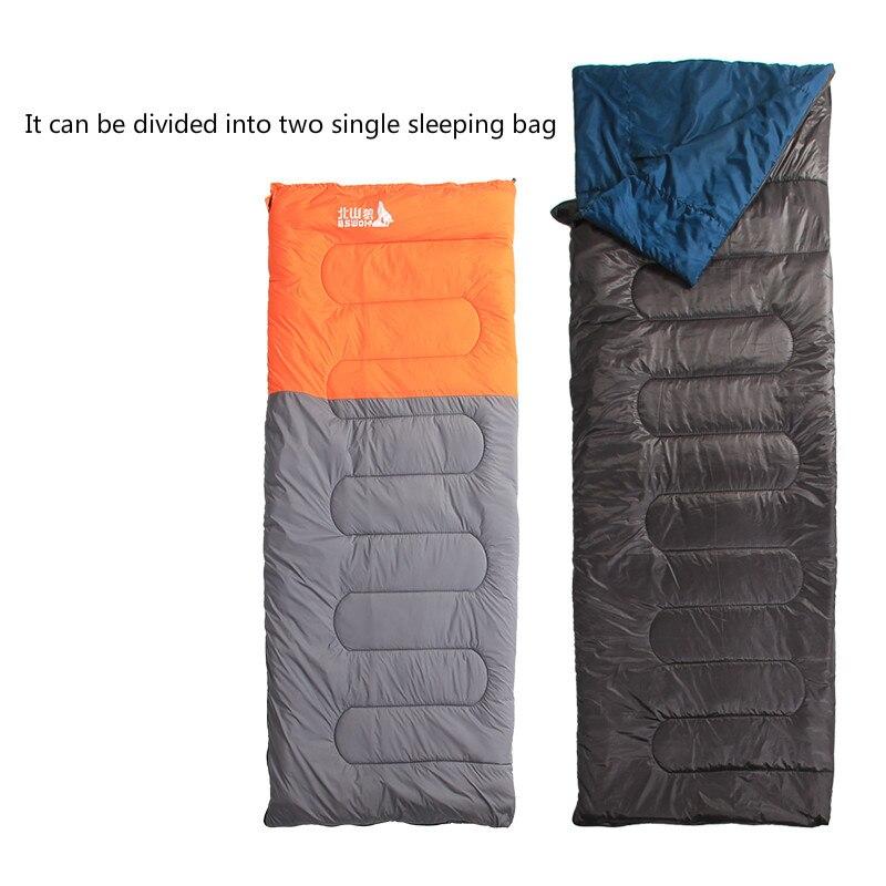 Camping sac De couchage 220x145 cm enveloppe imperméable à l'eau coquille léger sac De couchage sac De Compression randonnée Travelsaco De Dormir