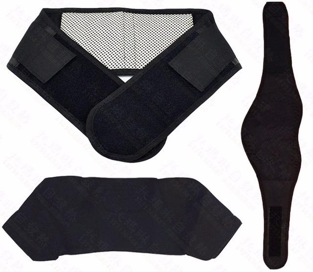 3-en-1 Turmalina Cinturón de Masaje Magnético Cinturón Autocalentamiento cintura hombro pastillas Para Aliviar El Dolor de cuello y Mantener Caliente