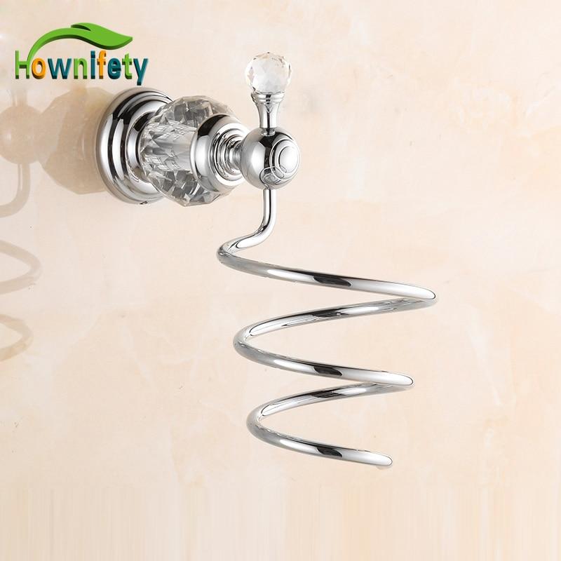 Solid Brass Bathroom Hair Dryer Holder Bathroom Accessories Wall Mounted gold finish brass bathroom hair dryer holder wall mounted