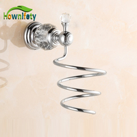 Solid Brass Bathroom Hair Dryer Holder Bathroom Accessories Wall Mounted