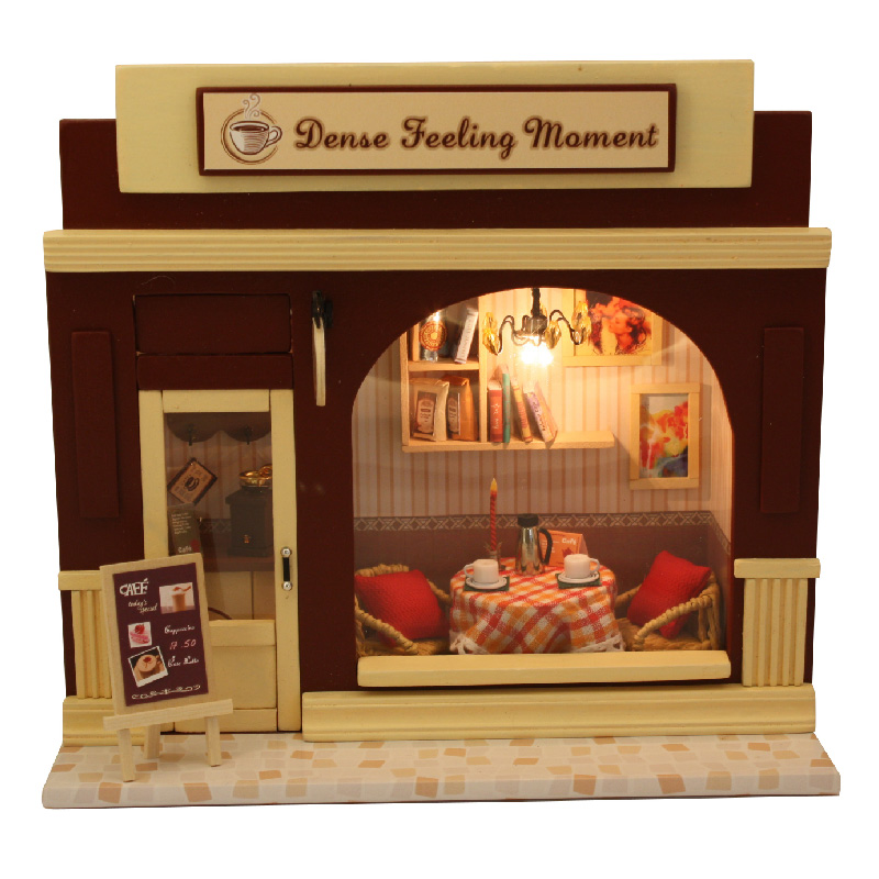 NEW DIY Mini Photo Frame Dollhouse Furniture LED Light Set-Summer Afternoon
