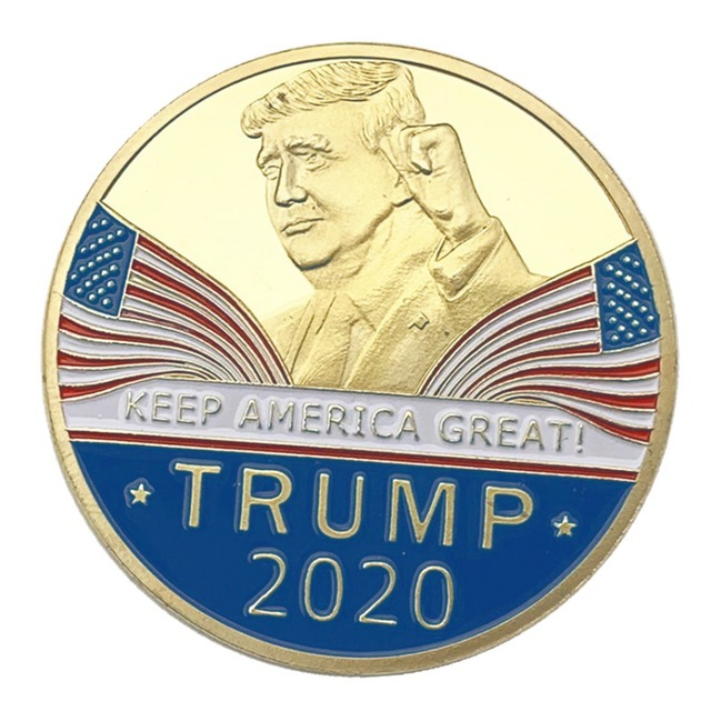 US $2 12 28% OFF Whosale Hot sale Donald J Trump 2020 Keep America Great  Commander In Chief Gold Challenge Coin-in Non-currency Coins from Home &
