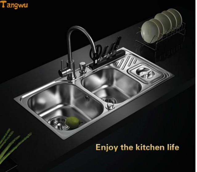 Tangwu cornici e articoli da esposizione da cucina 304 lavello in ...
