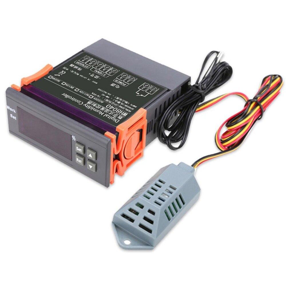 10a 220 V Mini Digital Thermostat Hygromstat Luft Temperatur Controller Messbereich 1%-99% Mit Sensor Feuchtigkeit Meter