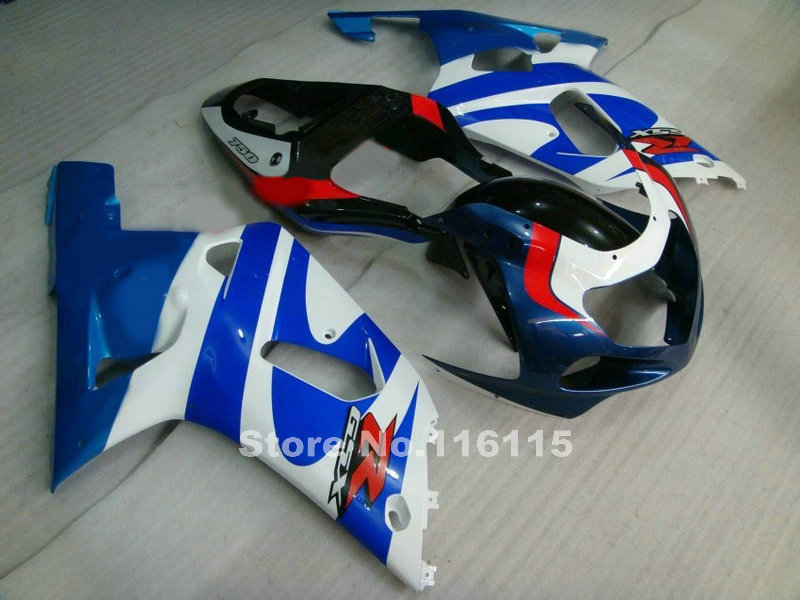 Fairings set for SUZUKI GSXR600 GSXR750 K1 2001 2002 2003 GSXR 600 750 01 02 03 blue white black motorcycle fairing kit KG60 lowest price fairing kit for suzuki gsxr 600 750 k4 2004 2005 blue black fairings set gsxr600 gsxr750 04 05 eg12