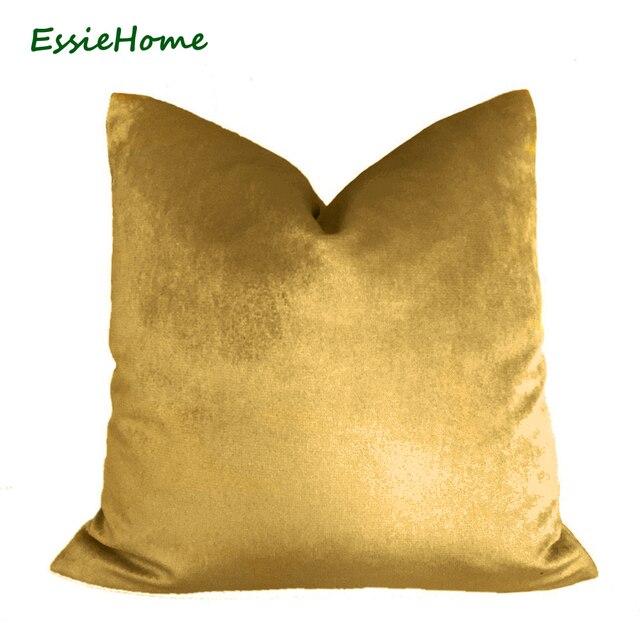 essie maison de luxe brillant soie coussin de velours oreiller bronze or velours housse de coussin