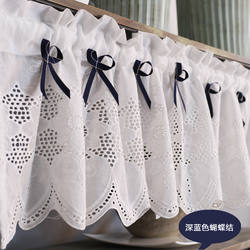 Embroidered Half Curtains For Bedroom Short Curtain Kitchen Balcony Door Decorative Cafes Curtain Cloth Lace Curtain DL-QT028-30