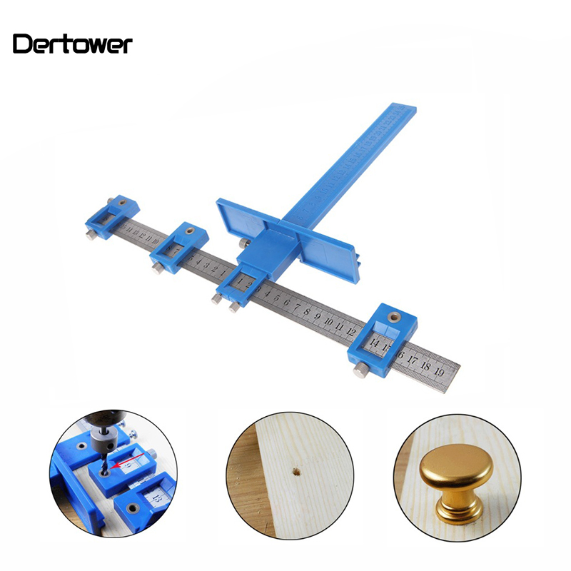 Detachable Hole Punch Locator Jig Tool Drill Guide Sleeve For Drawer Cabinet Hardware Dowel Wood Drilling Hole Punching Ruler