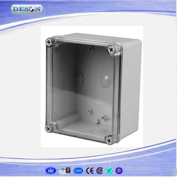 Free Shipping Best Small Size Clear Cover ABS Material IP66 Waterproof Plastic Electrical Panel Box 140