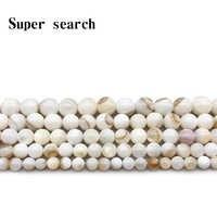 Natürliche Shell Braun Spitze Mutter der Perle Runde Lose Perlen 15 Strand4 5 6 7 8mm Pick Größe für Schmuck Machen Armband Ohrringe
