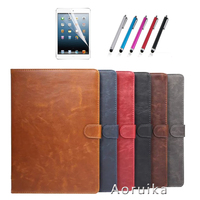 SM T525 Case Luxury Crazy Horse Pattern PU Leather Stand Cover Case For Samsung Galaxy Tab