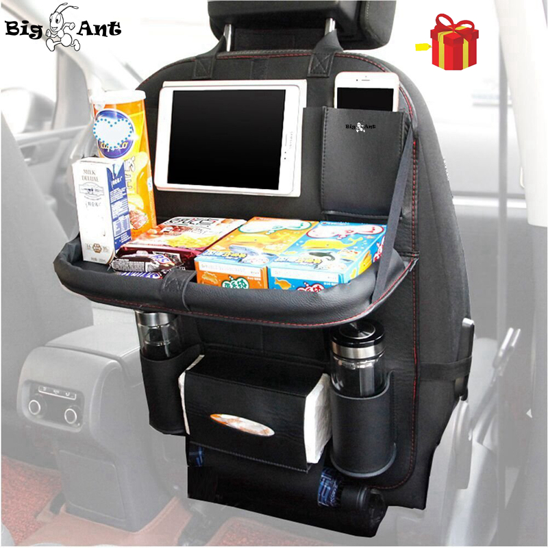 BigAnt Newest Car Seat Back Organizer font b Bag b font PU Leather Multifunctional Trunk Organizer