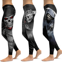 цена на Colorful Sugar Skull Dead Leggings Yoga Fitness Workout Leggings Tight Pants Women Push Up Yoga Gym Sports Wear