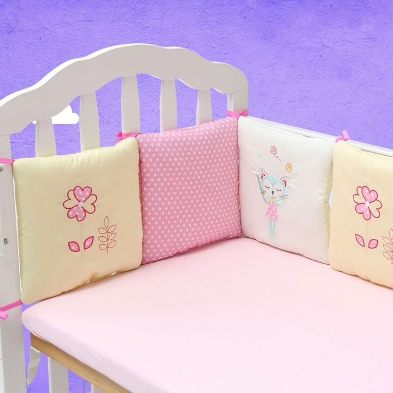 6 шт./компл. кроватка бампер подушка для младенцев постельные принадлежности безопасности из дышащего материала