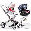Nueva Venta Caliente Cochecito de Bebé 3 en 1 Cochecito de Bebé Niños Cochecito Para Niños, Recién Nacido Cómodo Transporte, Infantiles Bebé Asiento de coche Cesta de Dormir