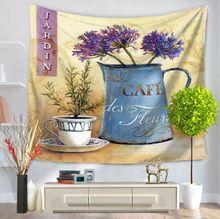 Cammitever фруктов простой цветочный горшок eurapean гобелен стене висит пляжное полотенце полиэстер тонкое одеяло yoga шаль мат прямая поставка