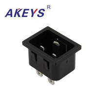 3PCS AC-220 AC-06B SS-3A-1 3PINS BLACK Universal plug Socket AC power socket switch