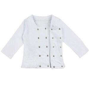 Image 4 - Baby Jongen Meisje Carnaval Kok Chef Halloween Cosplay Outfits Baby Kok Chef Keuken Uniform T shirt Broek Hoed Fotografie Kostuum