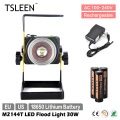 TSLEEN +Cheap+Free Shipping+ IP65 Waterproof zoomable 30w 18650 led flood spot light night fishing garage basement lamp