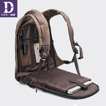 DIDE 2019 винтажные мужские рюкзаки 14 и 15 дюймов USB зарядка Рюкзак для ноутбука мужские дорожные сумки рюкзак кожа водонепроницаемый