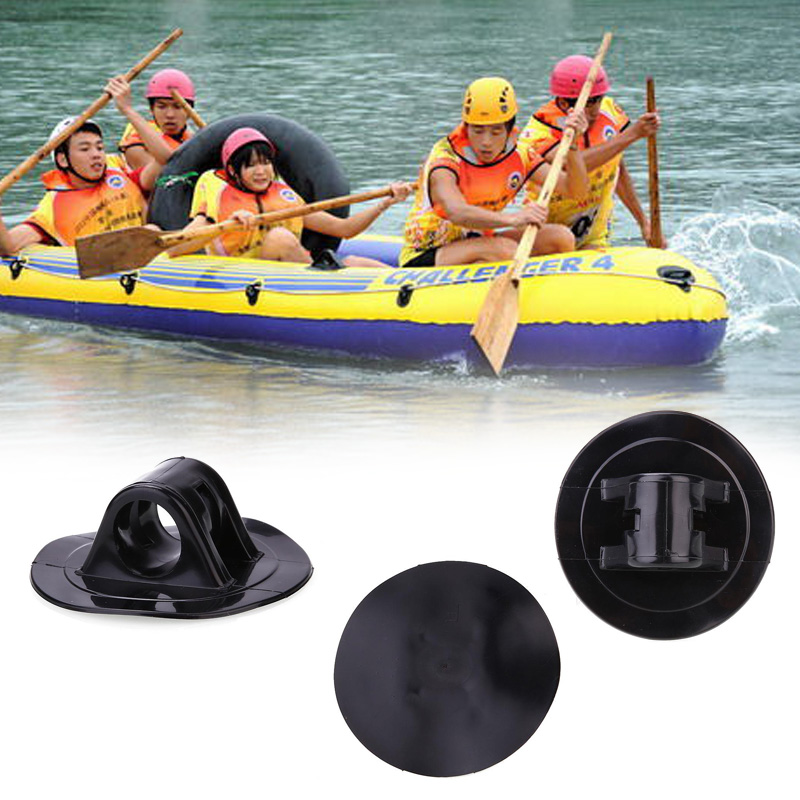 4pcs PVC Inflatable Rubber Boat Dinghy Motor Buckle Kayak Motor Buckle Part Kit Kayak Accessories Watersport Kayak Accessories