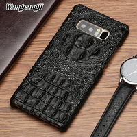 Brand phone case for Samsung galaxy S8 crocodile pattern half pack mobile phone protection case Cowhide Mobile phone back cover