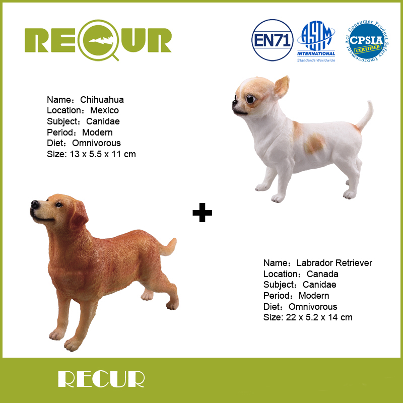 ᑐ2 unids/lote Repita Juguetes Delicado Chihuahua y Labrador ...
