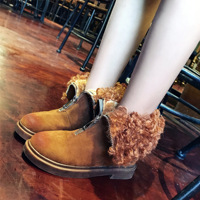 Europe Curly Thick Warm Snow Boots Two Wear In The Brush Color Front Zipper Fashion Cotton 2018 Star Of Sa