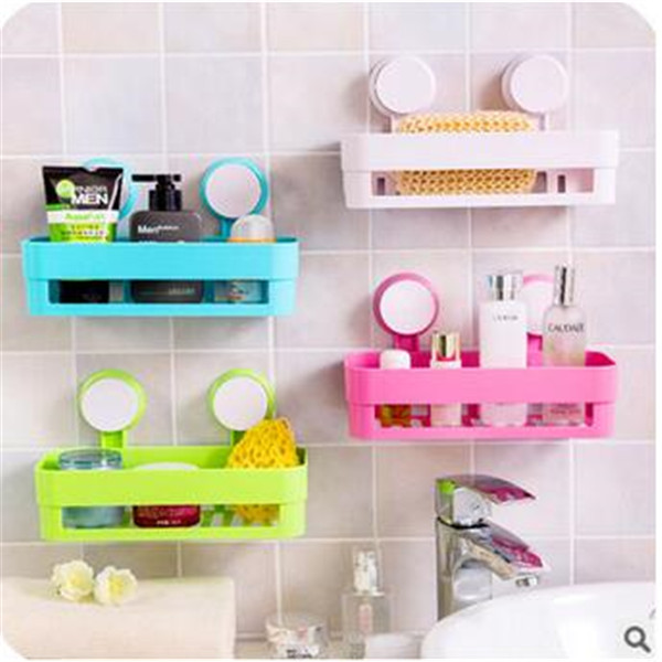 double sucker corner for bathroom accessories wrought iron wall shelves toilet storage rack accessoire salle de
