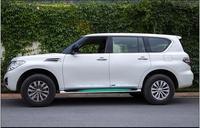 Plating anti collision decorative door bright door door trim strip body anti rubbing For 2010 2018 Nissan patrol Y62
