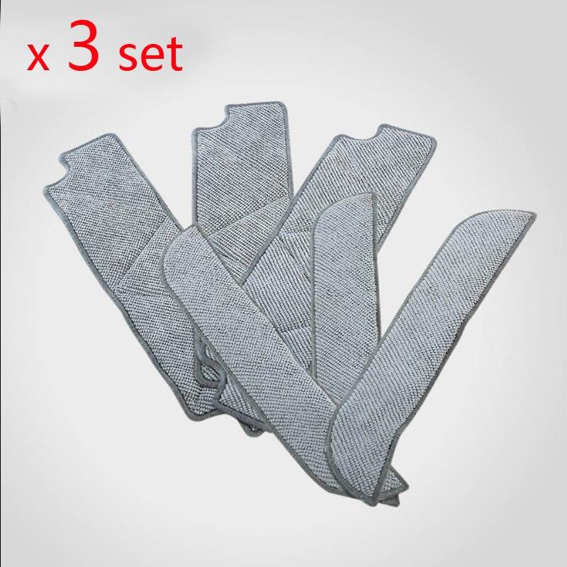 3 set Mopping Cleaning cloth Dishcloth dishrag For Ecovacs Winbot W710 W730 TBW60TG TBW61 WRN60 WRN70 Replacement робот мойщик окон winbot w 710